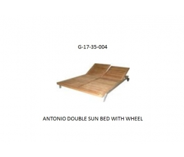 ANTONIO DOUBLE SUN BED WITH WHEEL