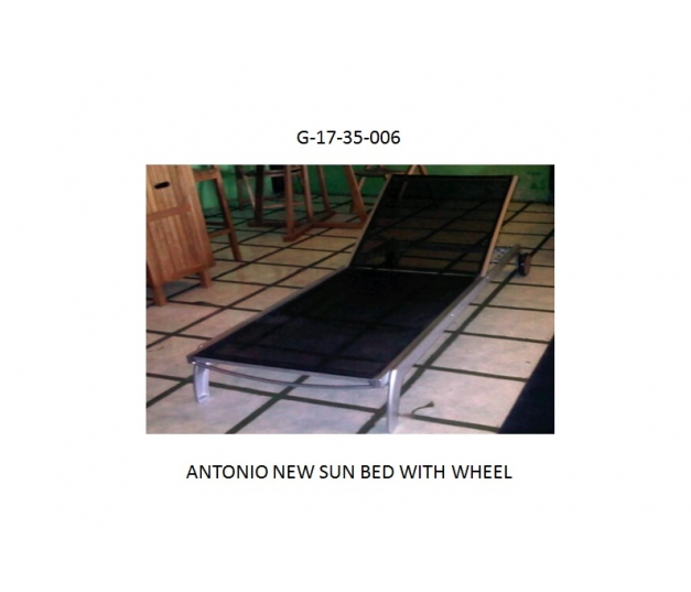 ANTONIO NEW SUN BED WITH WHEEL
