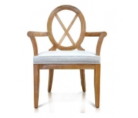 ARM CHAIR CROSS BACK WHITE WASH