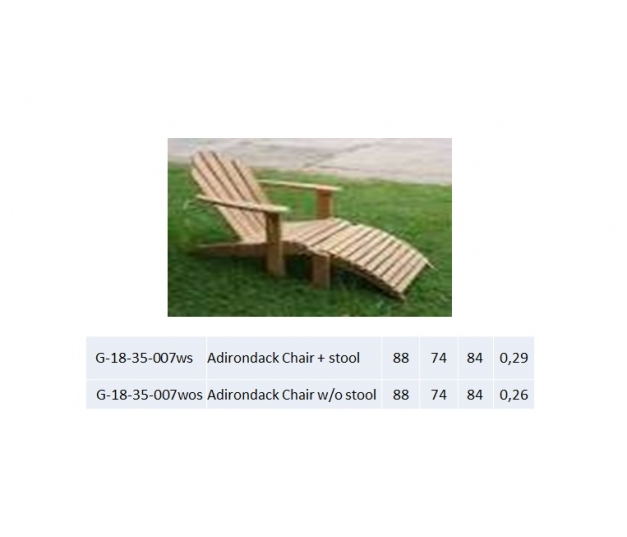 Adirondack Chair + stool
