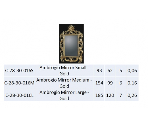 Ambrogio Mirror Small - Gold