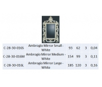 Ambrogio Mirror Medium - White