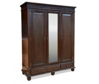 Anne Wardrobe Mahogany 2 Doors With Mirror
