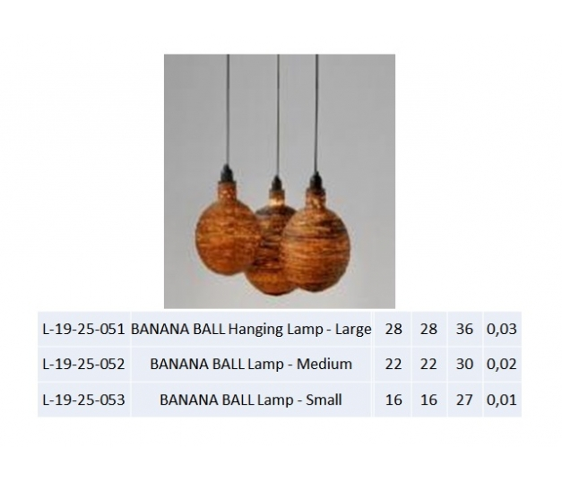 BANANA BALL Lamp - Medium