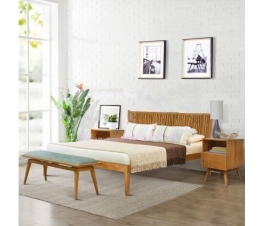 BED NEW NAVE KING TEAK WOOD