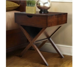 BEDSIDE TABLE WITH CROSSED LEGS PANAMA