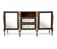 BUFFET BATIK WITH MIRROR TEAK WOOD
