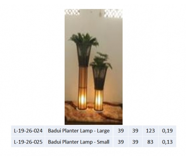 Badui Planter Lamp - Large