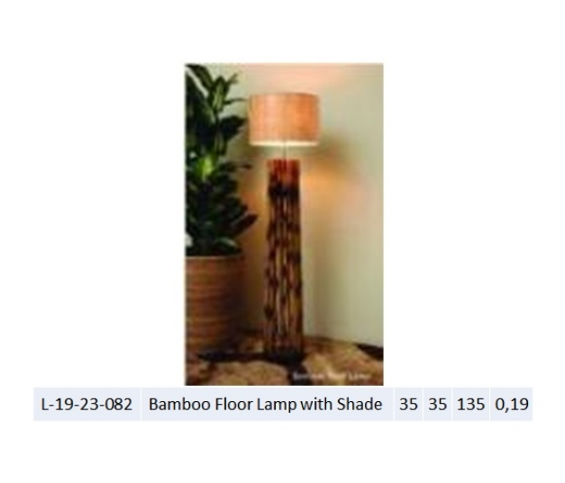 Bamboo Floor Lamp with Shade