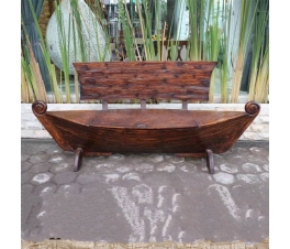 Antique teak park bench Kapal