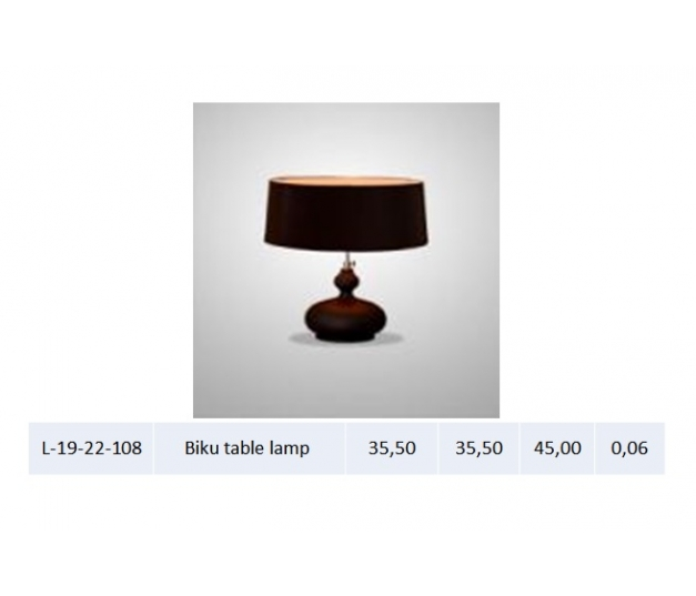 Biku table lamp
