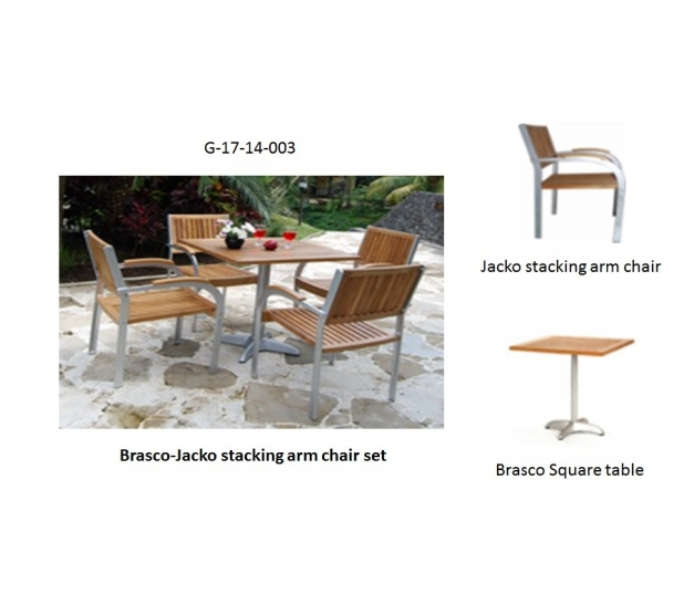 Brasco-Jacko stacking arm chair set