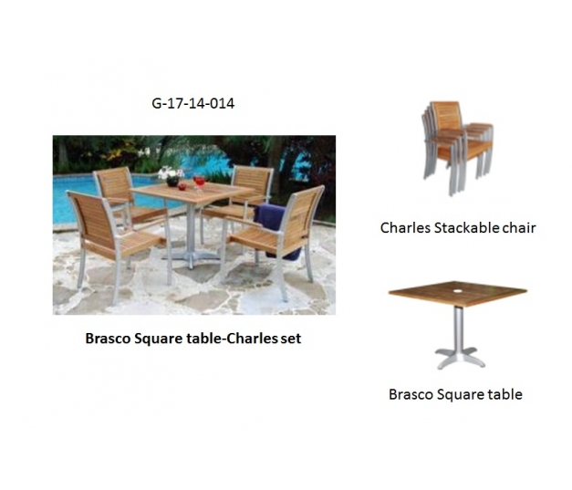 Brasco Square table-Charles set