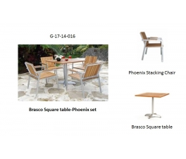 Brasco Square table-Phoenix set