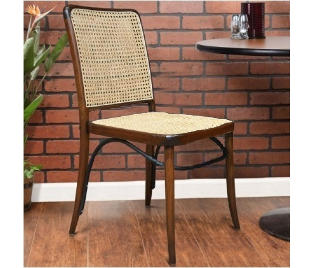 CAFE CHAIR THONET HOFFMAN WITH RATTAN