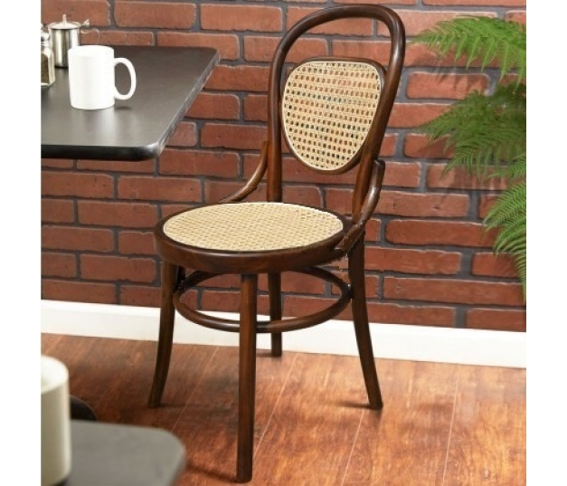 CHAIR CAFE BENTWOOD WITH RATTAN