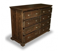 CHEST OPIUM 8 DRAWERS RUSTIC