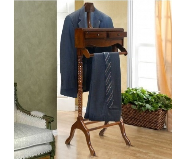 CLOTHES VALET STAND TEAK WOOD