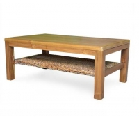COFFEE TABLE TEAK WOOD WITH WATERHYACINTH