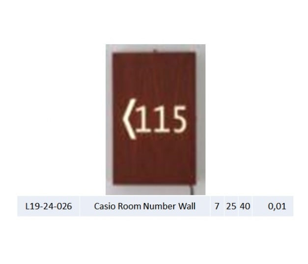 Casio Room Number Wall