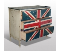 Chest Of Drawers Painted UK Flag