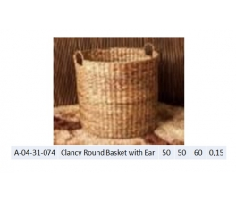 Clancy Round Basket with Ear