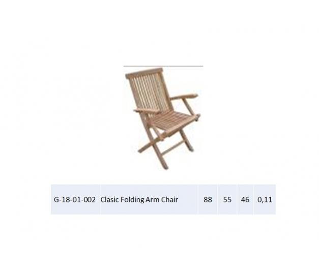 Clasic Folding Arm Chair