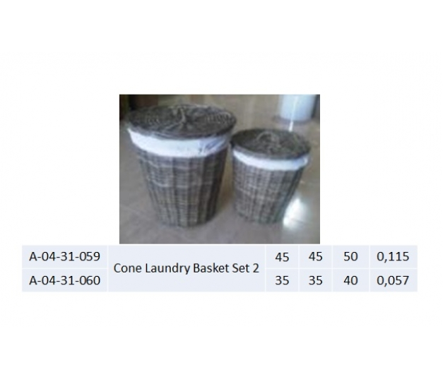 Cone Laundry Basket Set 2 - 059