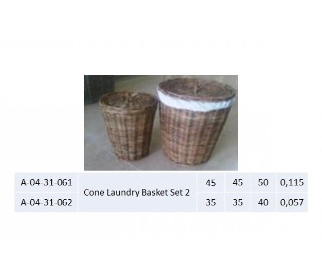 Cone Laundry Basket Set 2 - 061