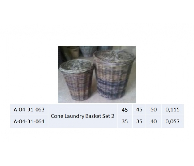 Cone Laundry Basket Set 2 - 063
