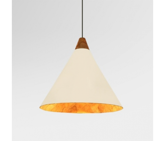 Conos Hanging Lamp Small with Teak