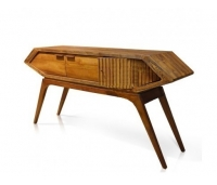 Console Table Futuristic Teak Wood