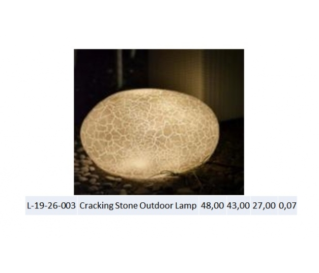 Cracking Stone Outdoor Lamp