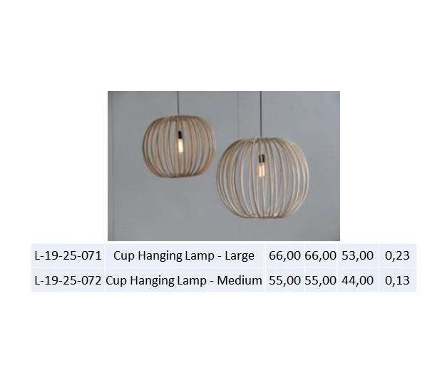 Cup Hanging Lamp - Medium
