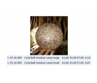 Curly Ball Outdoor Lamp Small