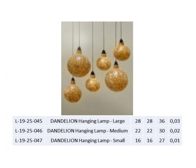 DANDELION Hanging Lamp - Large