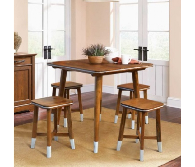 DINING TABLE SQUARE VINTAGE SET