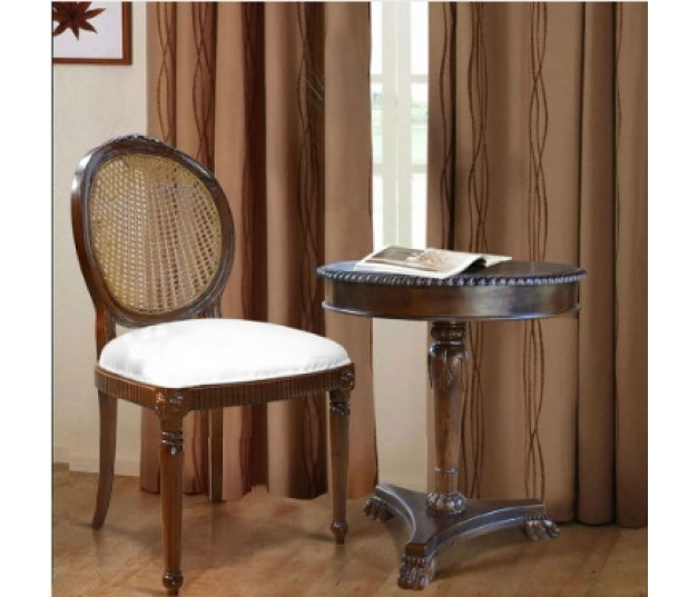 Dining Chair Louis Oval Rattan Back Rest