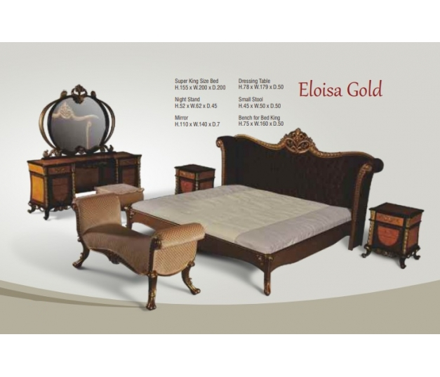 Eloisa Dressing Table - GOLD