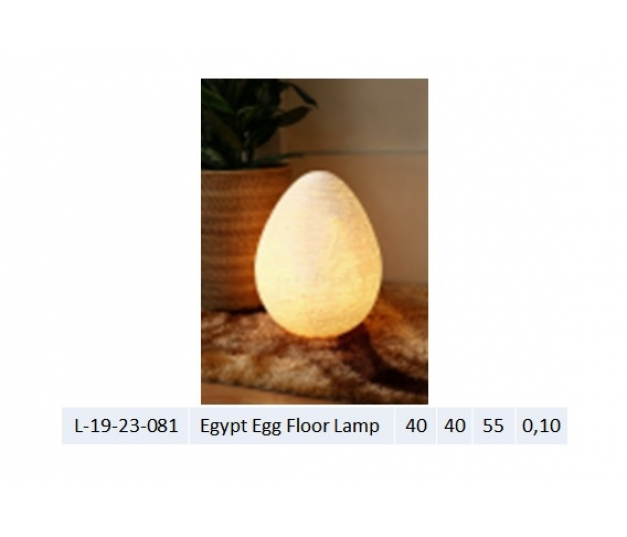 Egypt Egg Floor Lamp