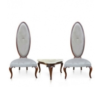 Ellips High Back Chairs Set