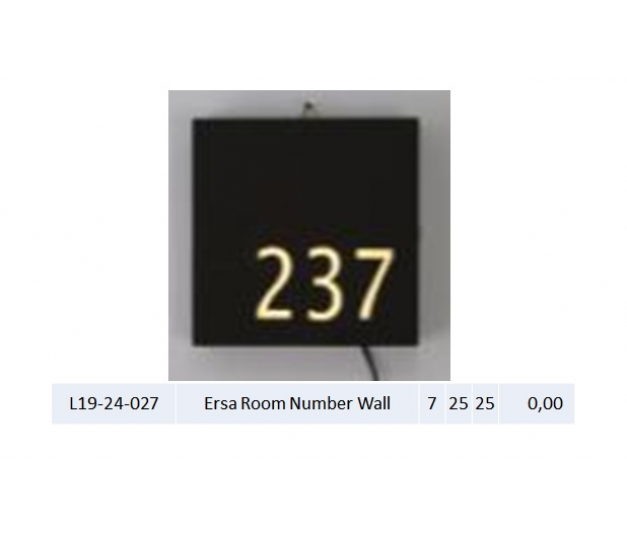 Ersa Room Number Wall