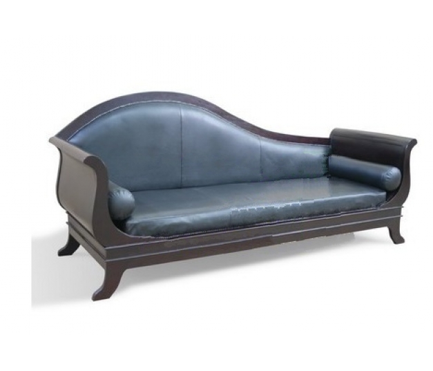 FRENCH DAY BED WITH LEATHER