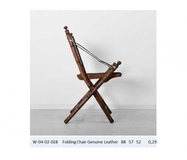 Folding Chair Genuine Leather