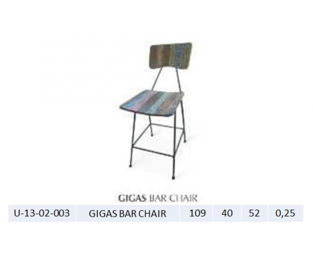 GIGAS BAR CHAIR