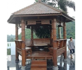 Hexagonal coconut minimalist Gazebo
