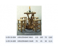 HIRUZEN BAR TABLE