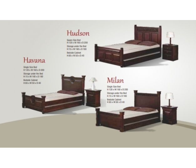 Hudson Single Size Bed