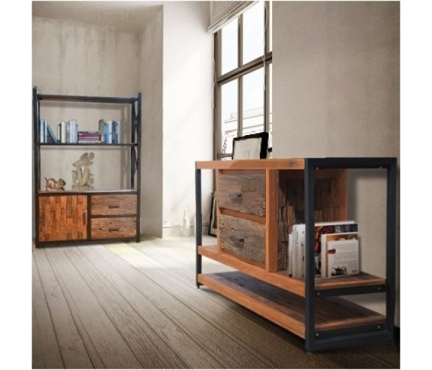 Buffet Iron Frame Combine With Erosion Wood