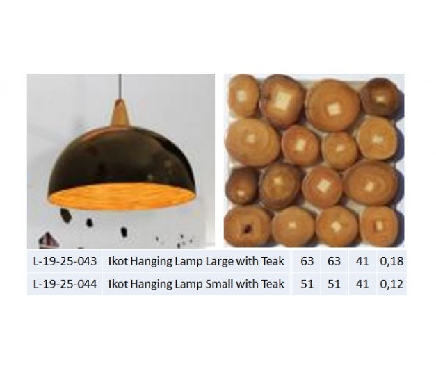 Ikot Hanging Lamp Large with Teak